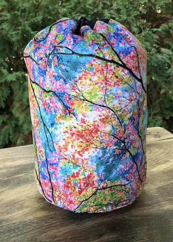 Spring Trees SueBee Round Drawstring Bag