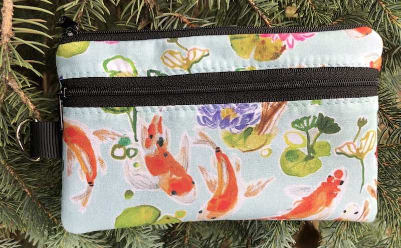 Summer Koi Mini Wallet Purse Organizer, iPhone wallet, The Sweet Pea