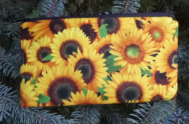 Sunflowers Deep Scribe pen and pencil case
