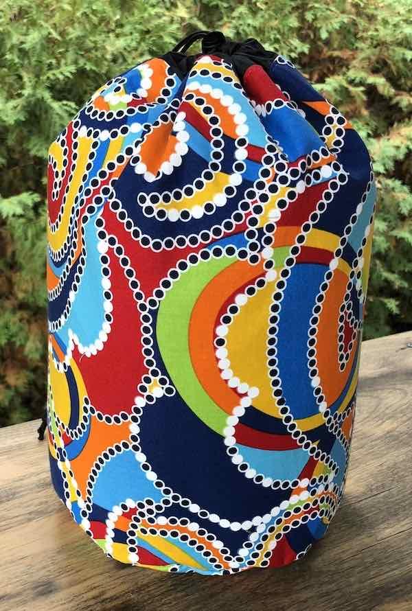 Swirls drawstring bag, The Large Suebee
