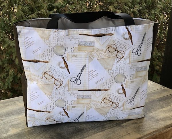 The Writer Medium Fleur Tote, wide