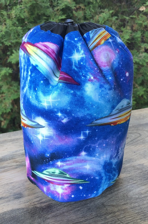 UFO's SueBee Round Drawstring Bag