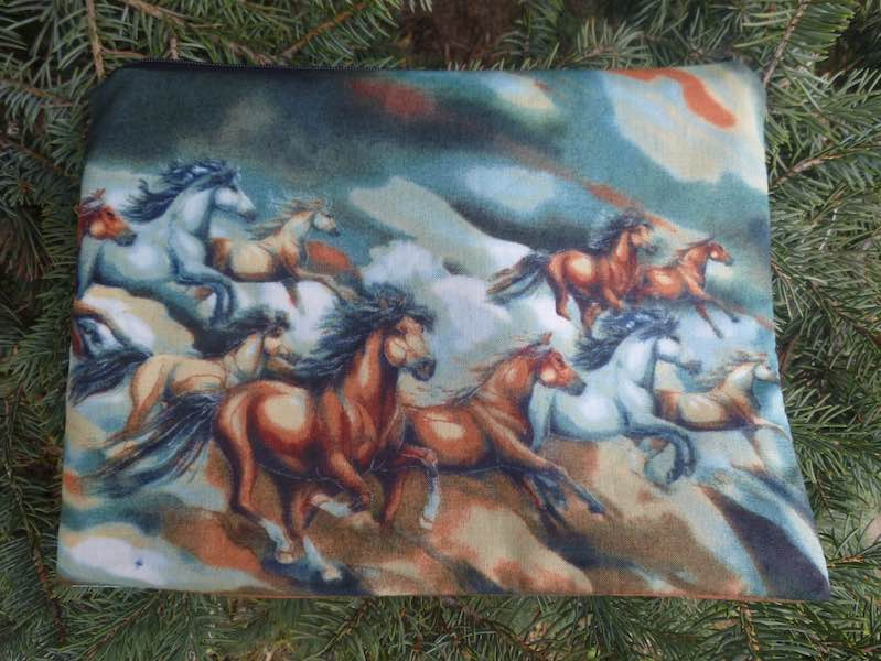 Wild Horses Supa Scribe extra large pencil case or makeup bag
