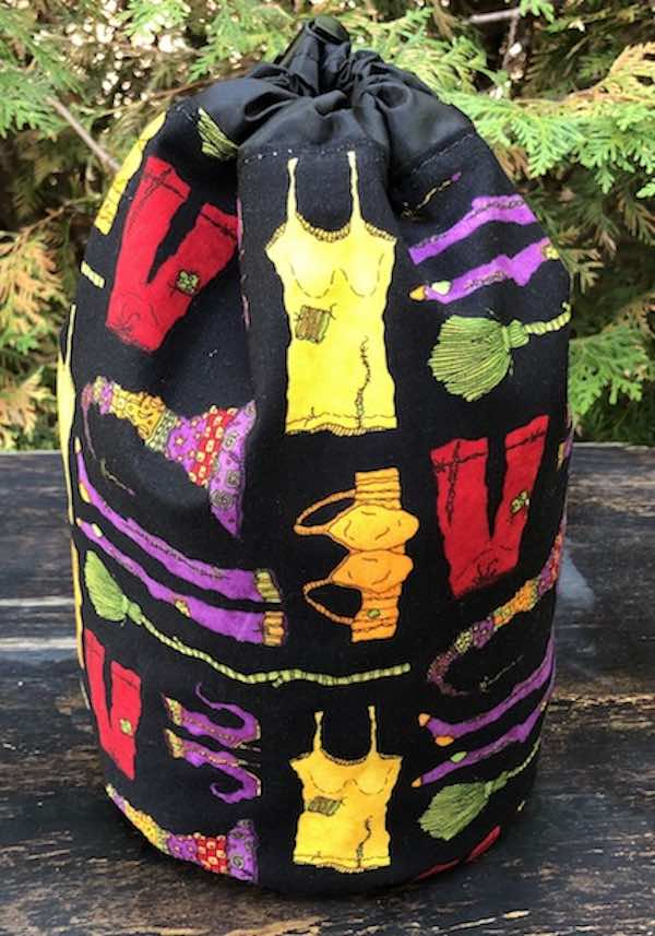 Witches Undies SueBee Round Drawstring Bag
