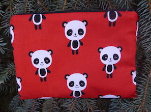 Adorable Pandas zippered bag, The Scooter