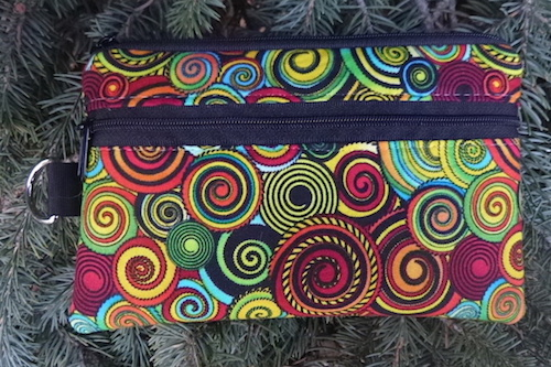 African Sunrise Mini Wallet Purse Organizer, The Sweet Pea