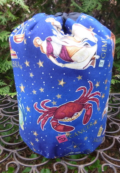 Astrology SueBee Round Drawstring Bag