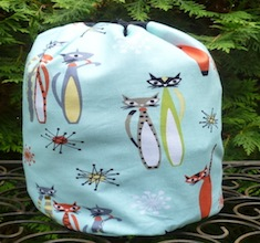 Atomic Kitties SueBee Round Drawstring Bag