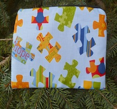 Autism Awareness blue Zippered Bag, The Scooter