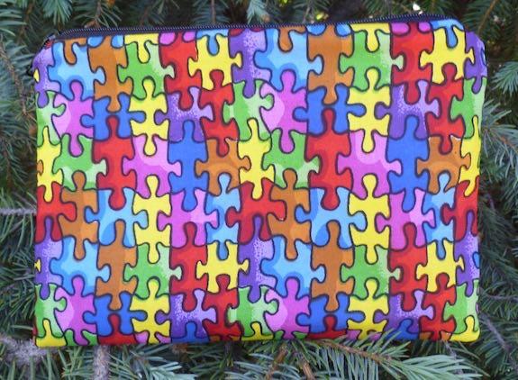 Autism Awareness Scooter Zippered Bag