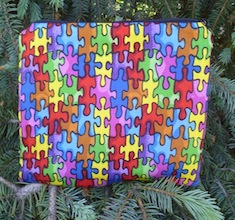 Autism Awareness Scooter Zippered Bag