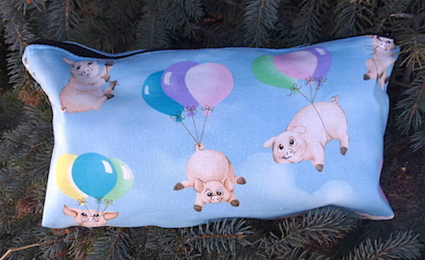 Ballooning Pigs Large Zini Flat Bottom Bag