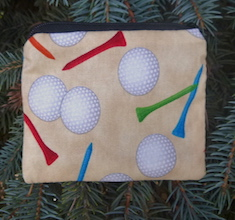 Golf Balls and Tees on Sand Coin Purse, The Raven