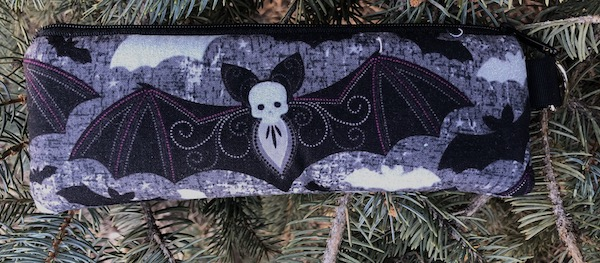 Elegant Bats Padded Zippered Glasses Case, The Spex