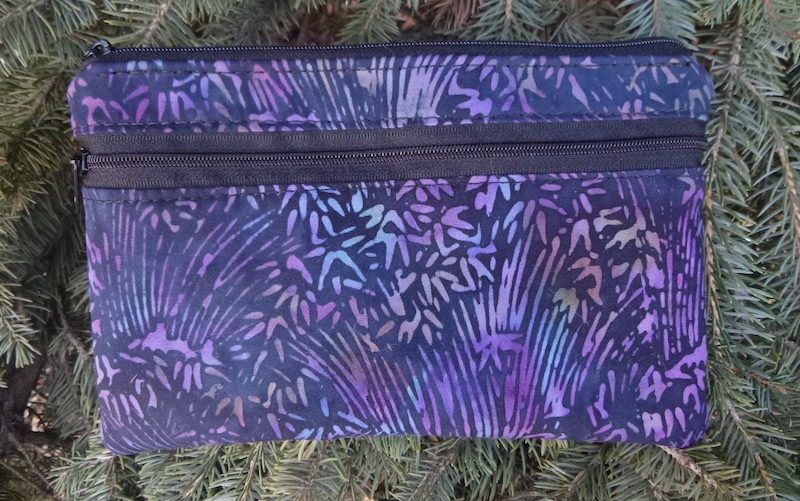 Batik Grasses clutch, smart phone wallet, mini shoulder bag, iPhone 6 wallet, The Wisteria