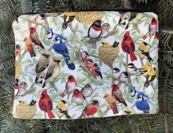 Beautiful Birds zippered bag, The Scooter