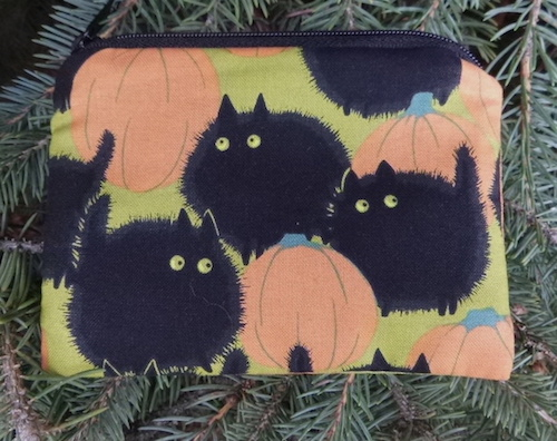 Belinda's Big Kitty Coin Purse, The Raven - Pick your color