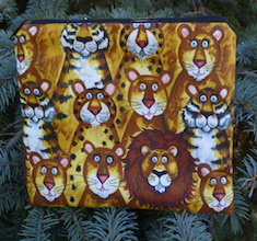 Big Cats Jungle Buddies zippered bag, The Scooter