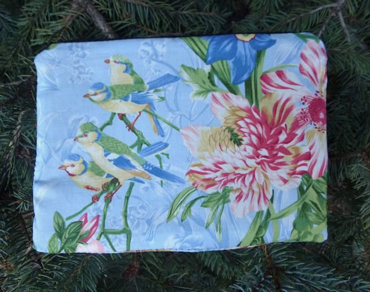 Birds and Flowers zippered bag, The Scooter
