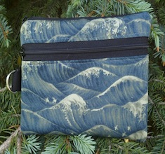Birds and waves Mini Wallet Purse Organizer, The Sweet Pea