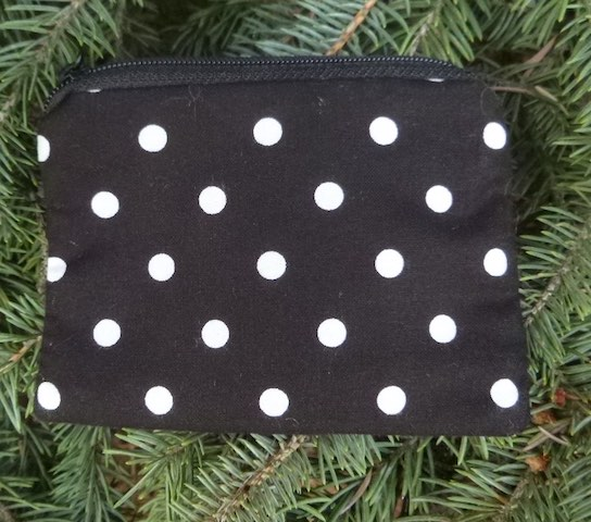 Black and White Polka Dots Coin Purse, The Raven
