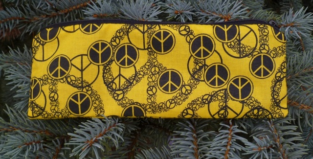 Black and yellow peace Pen and Pencil Case, The Scribe