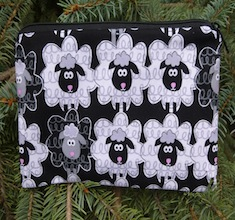 Black and White Sheep Deep Scribe pen and pencil case
