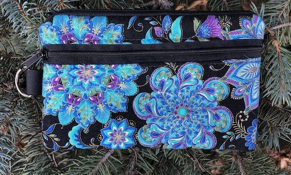 Blue Medallions Mini Wallet Purse Organizer, iPhone wallet, The Sweet Pea
