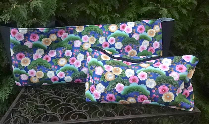 Bonsai and Flowers Mah jongg Storage Set The Tote-ster and Large Zini