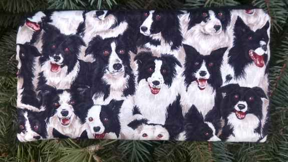 Border Collie Deep Scribe pen and pencil case