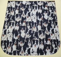 Border Collie Pick your Size Morphin Messenger Bag Flap