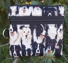 Border Collie Mini Wallet Purse Organizer, The Sweet Pea