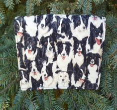 Border collie Wallet on a String