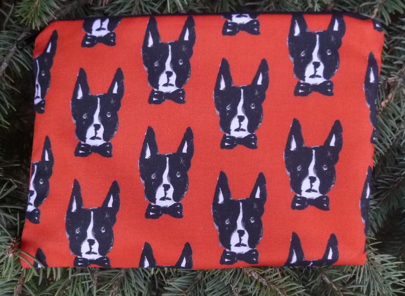 Boston Terrier zippered bag, The Scooter