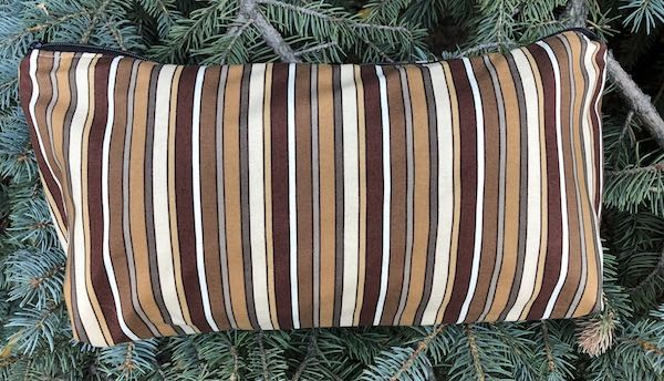 Brown Stripes Large Zini Flat Bottom Bag