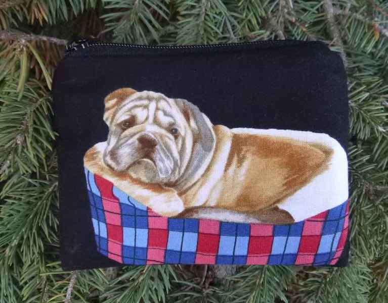Bulldogs in Beds Coin Purse, The Raven