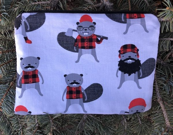 Burly Beavers zippered bag, The Scooter