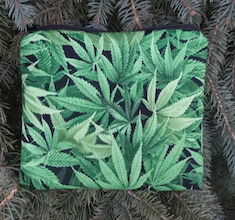 Cannabis zippered bag, The Scooter