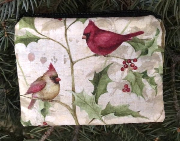 Cardinals and Holly Coin Purse, The Raven