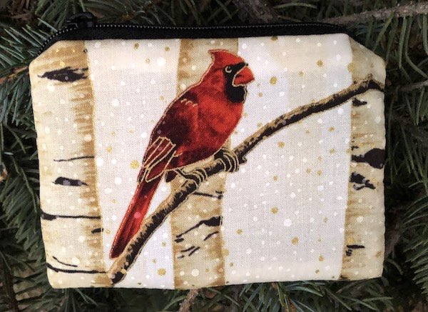 Cardinal Forest in gold Coin Purse, The Raven