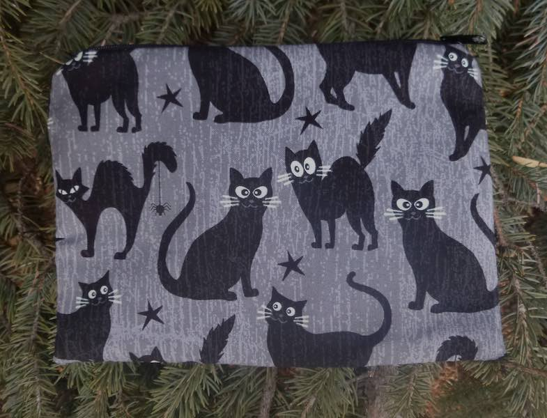 Black Cats with Glow in the Dark Eyes zippered bag, The Scooter
