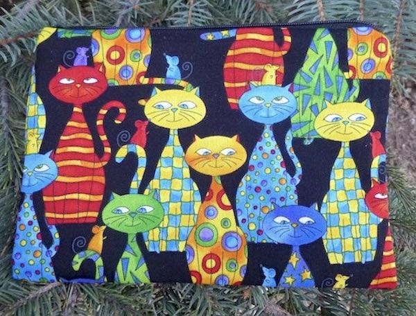 Colorful Cats and Mice zippered bag, The Scooter