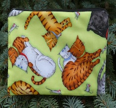Cats and mice zippered bag, The Scooter-CLEARANCE