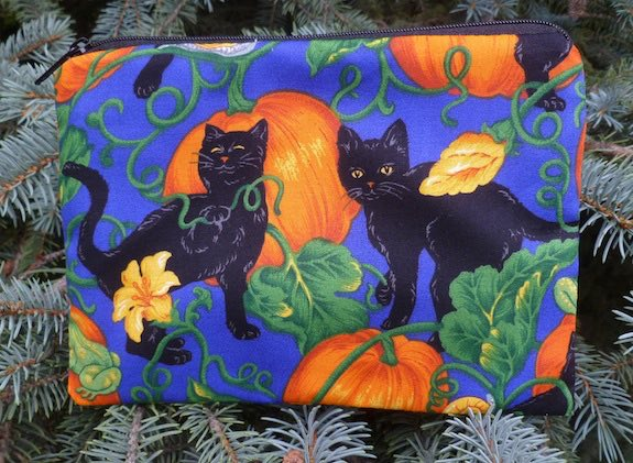 Cats and Pumpkins zippered bag, The Scooter
