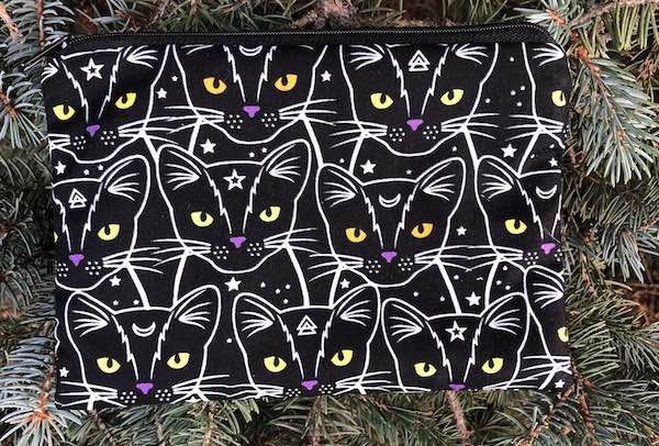 Celestial Cats zippered bag, The Scooter