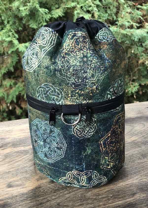 Celtic Knots Kipster Knitting Project Bag, pick light or dark