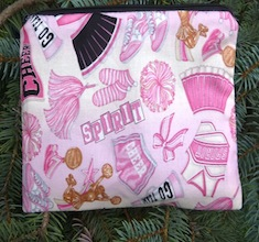 Cheerleader zippered bag, The Scooter