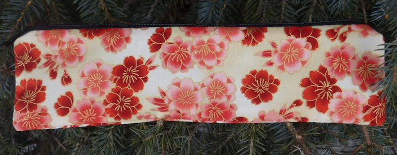 Cherry Blossoms, case to carry paper or reusable straws, The Strawz