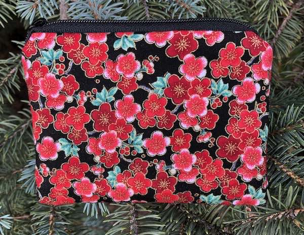 Cherry Blossoms Coin Purse, The Raven