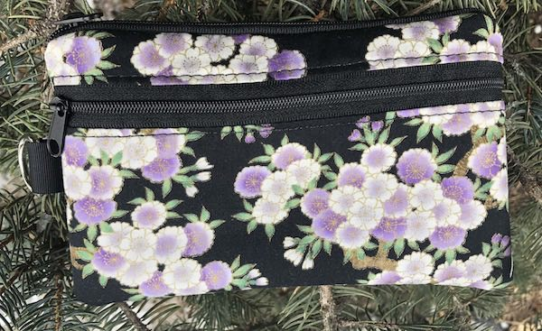 Cherry Blossoms Mini Wallet Purse Organizer, iPhone wallet, The Sweet Pea